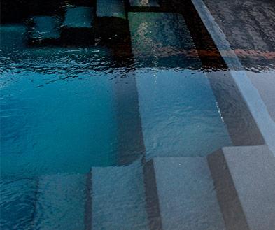 Imagine Pools Volcanic Black Swimming Pool Color Detail