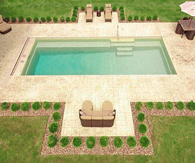 Imagine Pools Beach Sand Swimming Pool Color Lifestyle Image