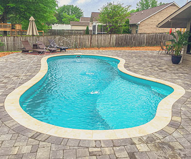 Imagine Pools Coral Blue Swimming Pool Color Lifestyle Image