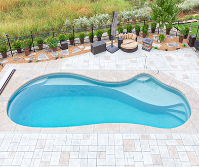 Imagine Pools Ice Silver Swimming Pool Color Lifestyle Image