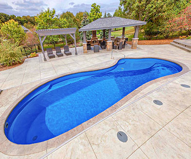 Imagine Pools Ocean Blue Swimming Pool Color Lifestyle Image