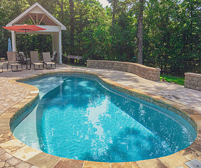 Imagine Pools Storm Grey Swimming Pool Color Lifestyle Image