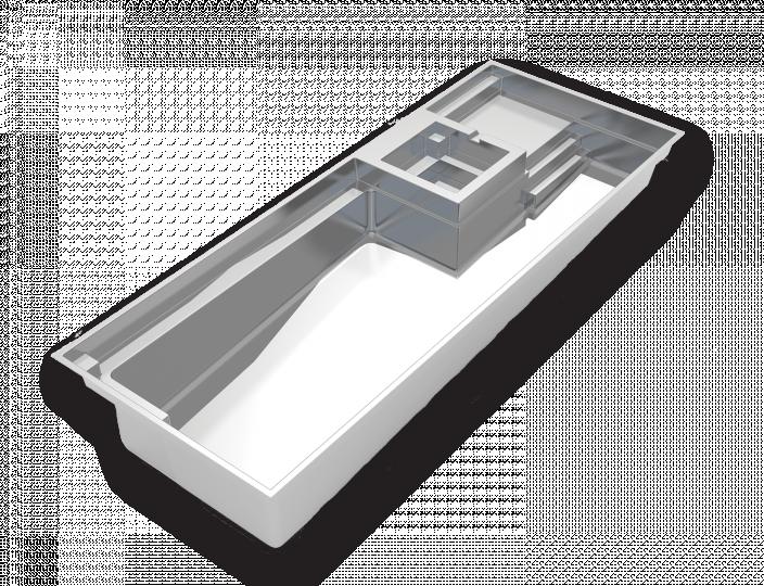 Imagine Pools Exquisite fiberglass swimming pool 3d drawing