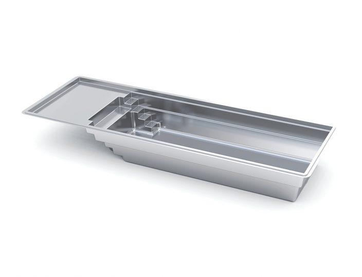 Imagine Pools Freedom with Splash Pad fiberglass swimming pool 3d drawing